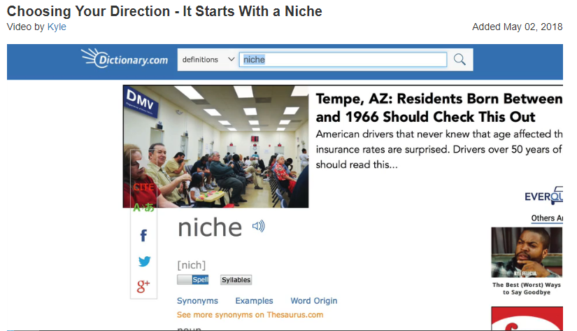 what is a niche affiliate marketing